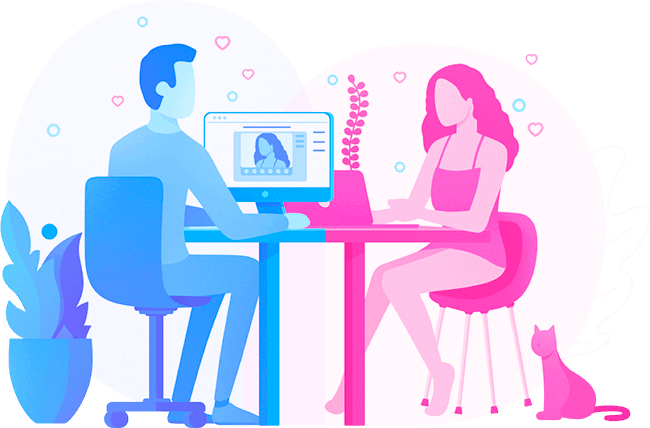Coomeet Cam to Cam chat girl and boy
